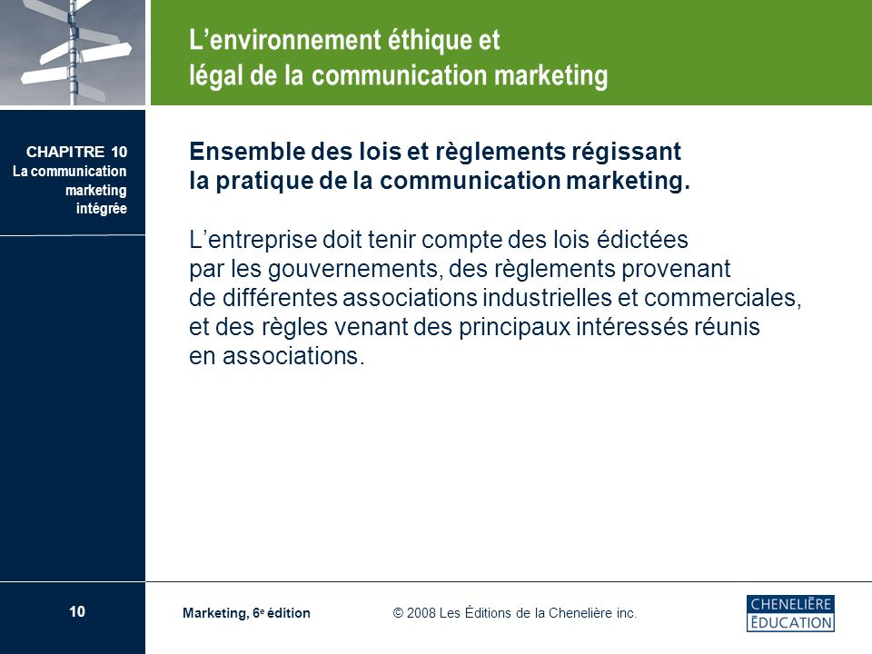 L'environnement éthique et légal de la communication marketing