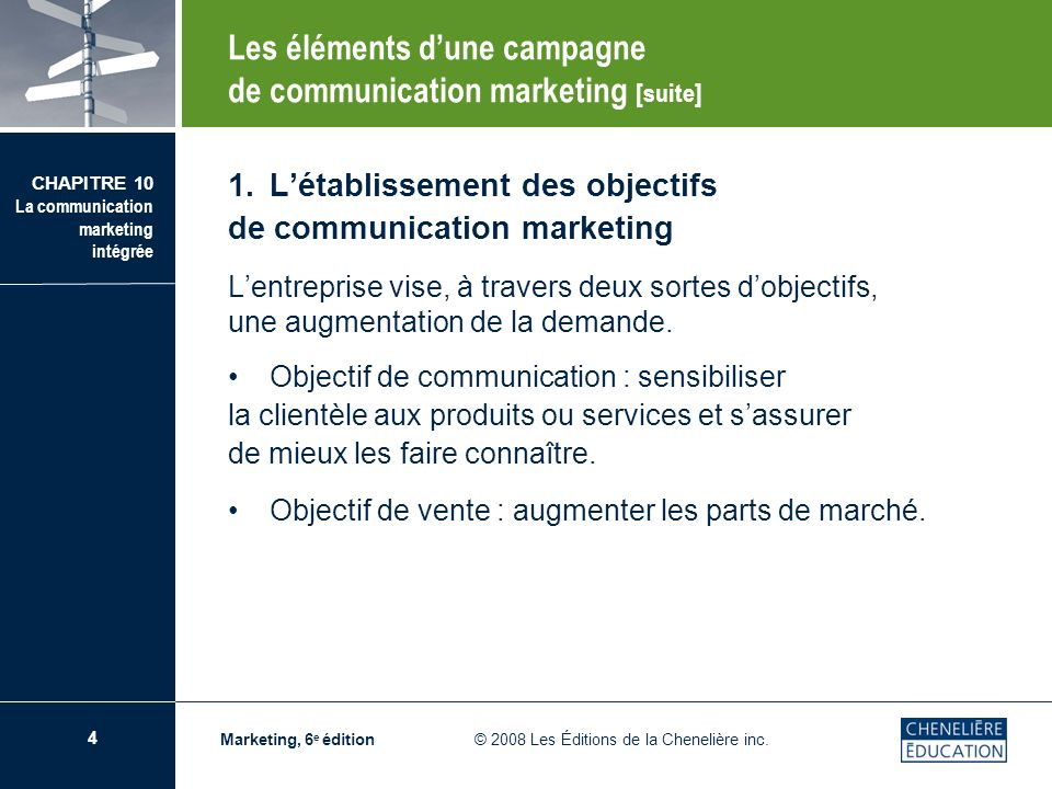 Les éléments d'une campagne de communication marketing [suite]