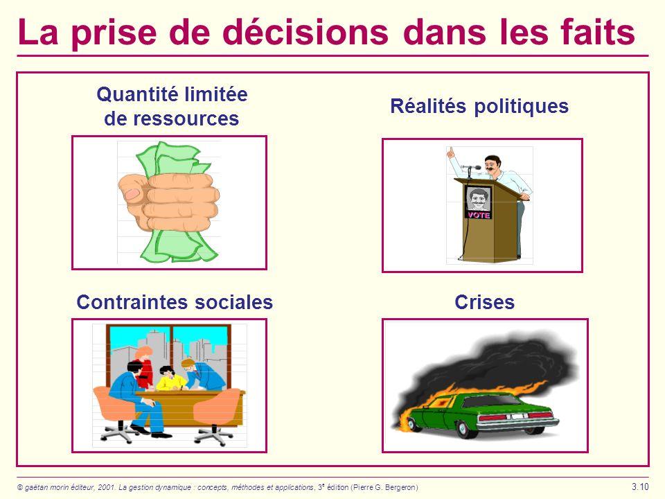 La prise de décisions dans les faits