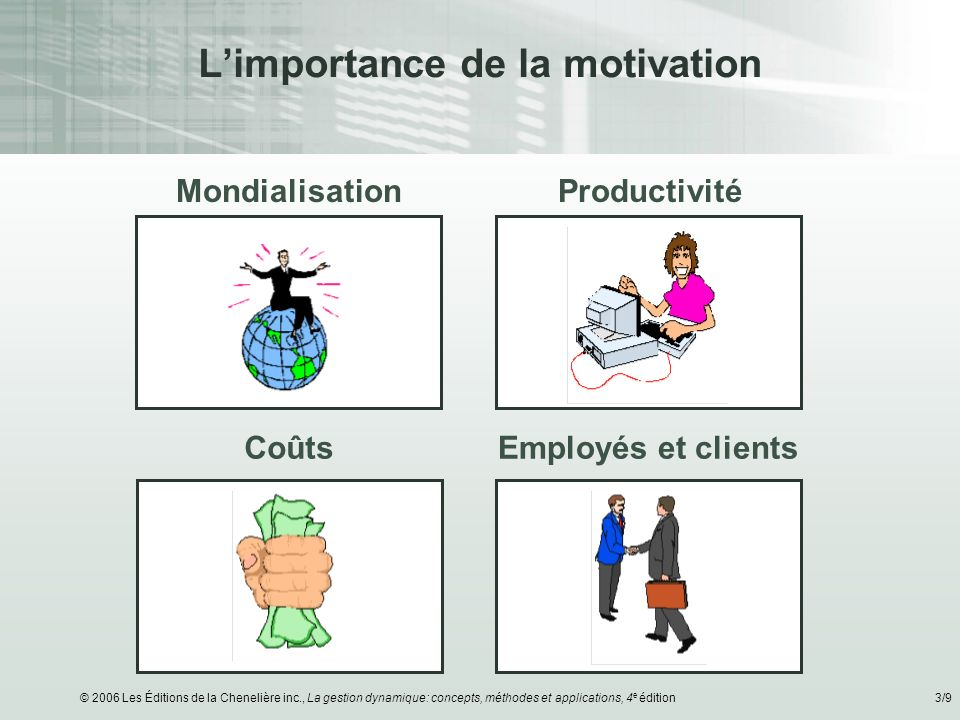 L'importance de la motivation
