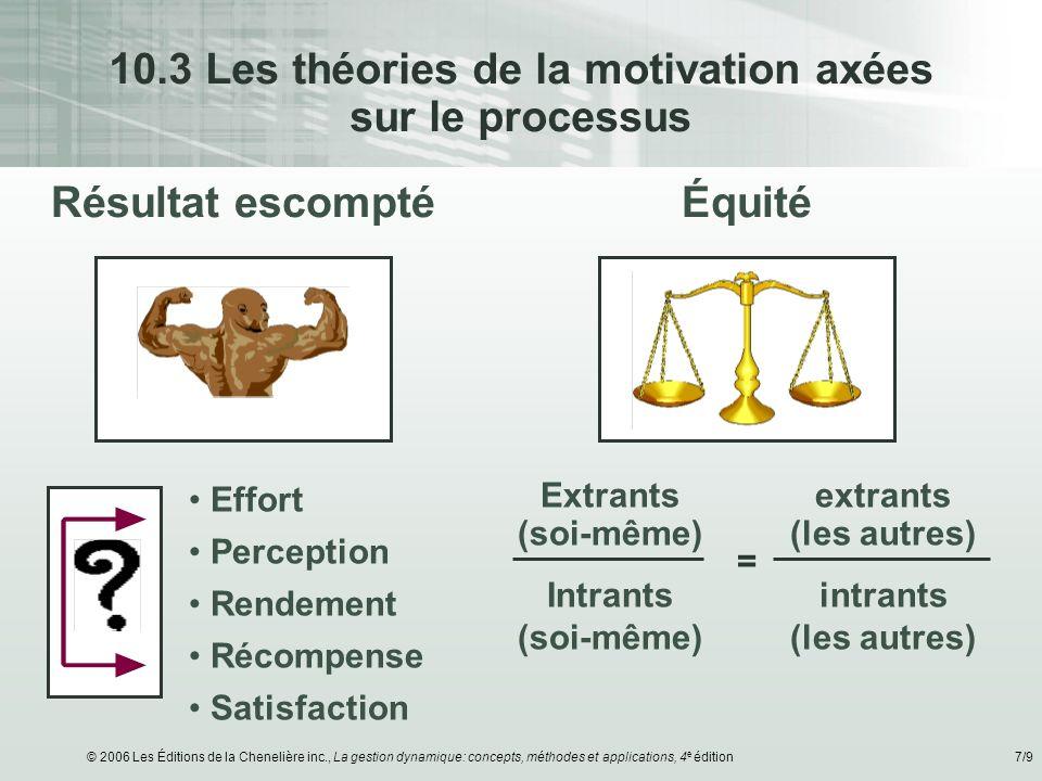 10.3 Les théories de la motivation axées sur le processus