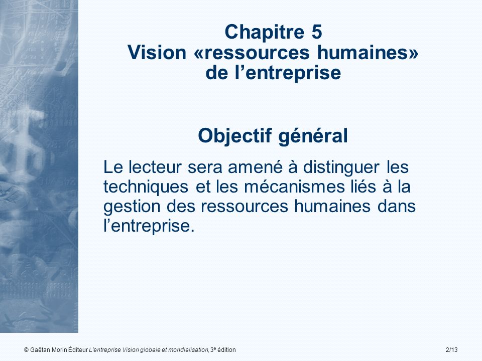 Vision «ressources humaines»
