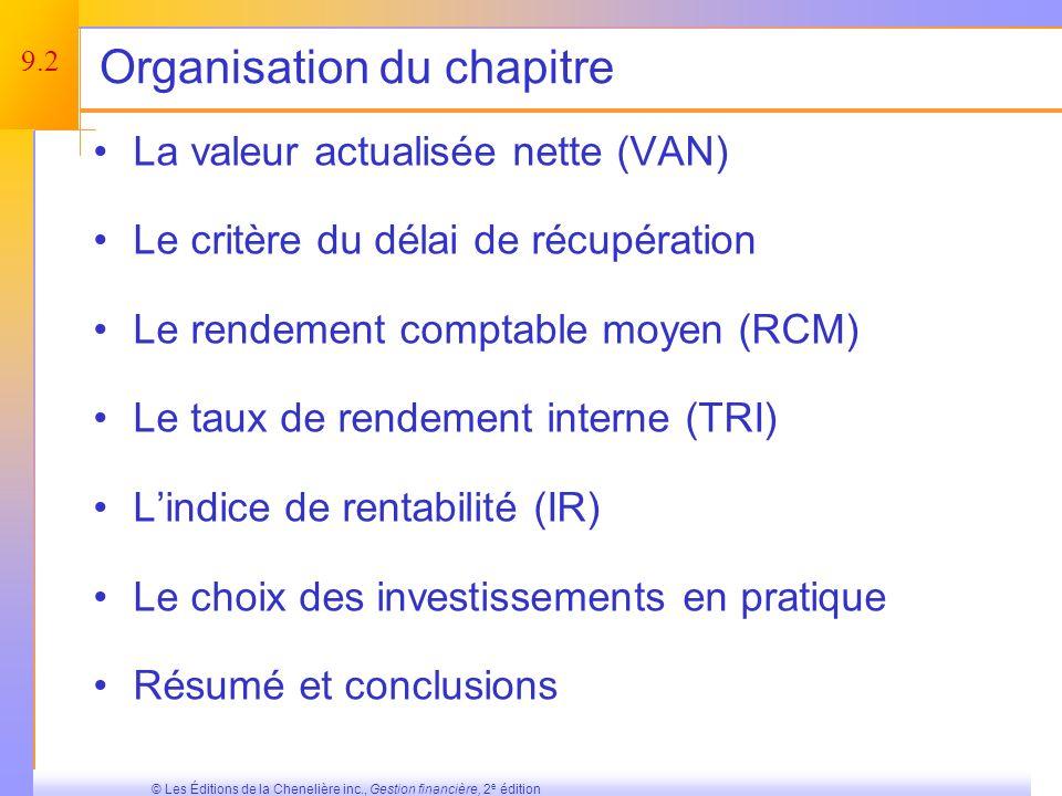 Organisation du chapitre