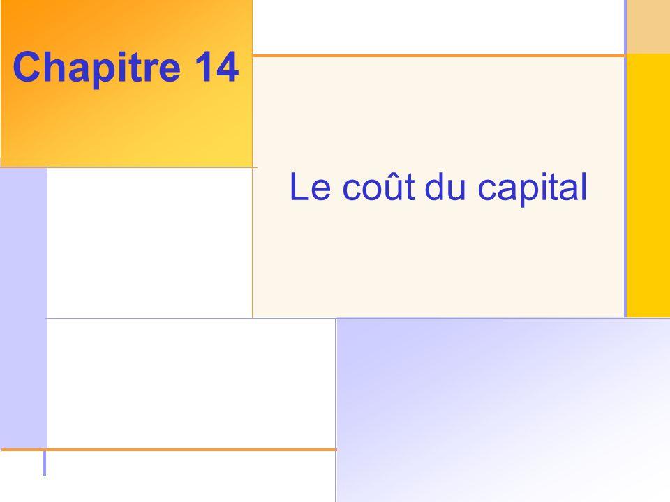 Chapitre 14 Le coût du capital