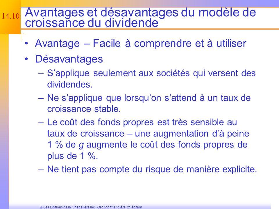 Avantages et désavantages du modèle de croissance du dividende