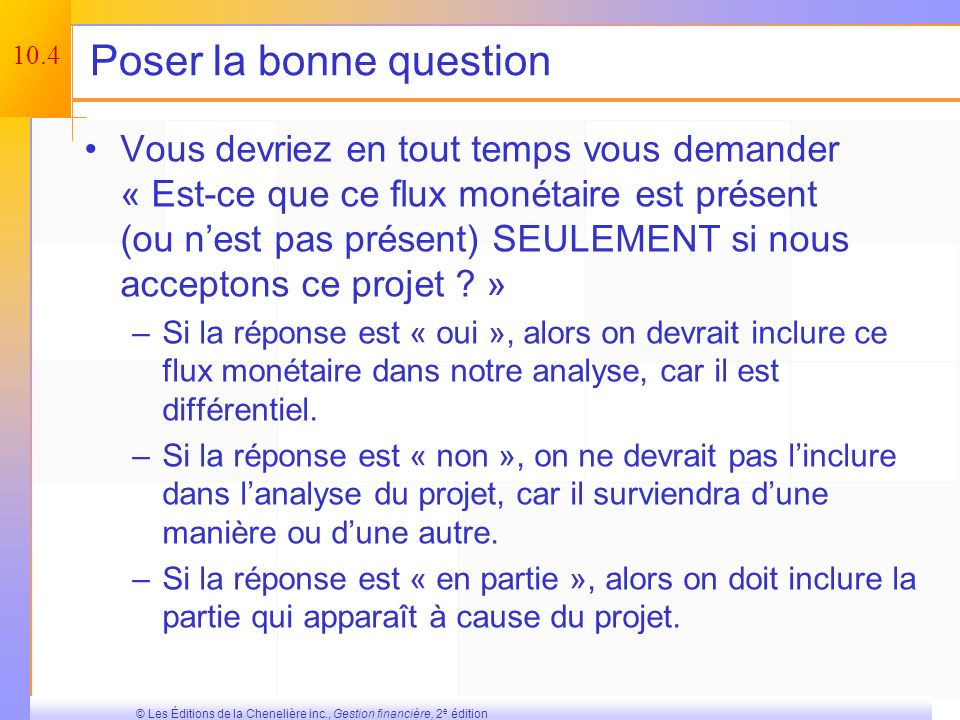 Poser la bonne question