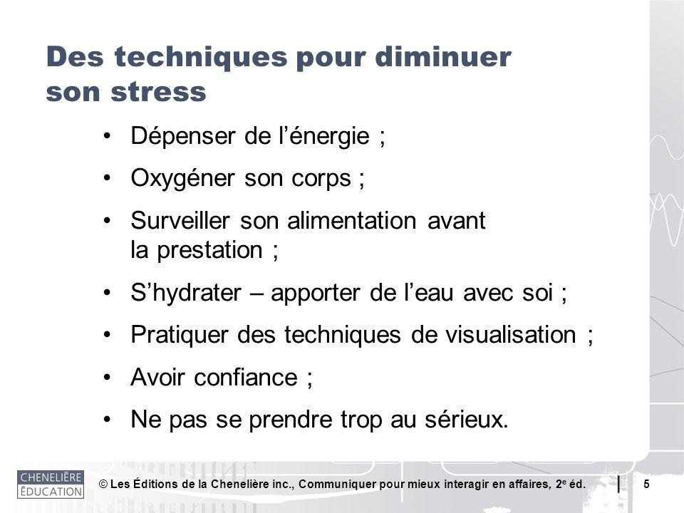 Des techniques pour diminuer son stress