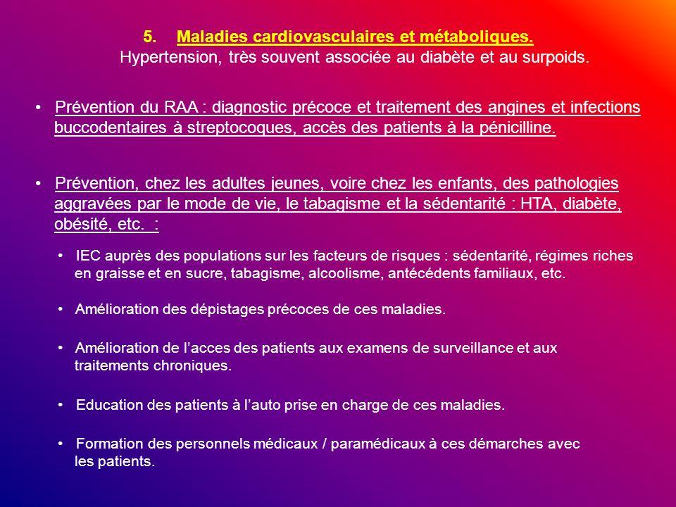 Maladies cardiovasculaires et métaboliques