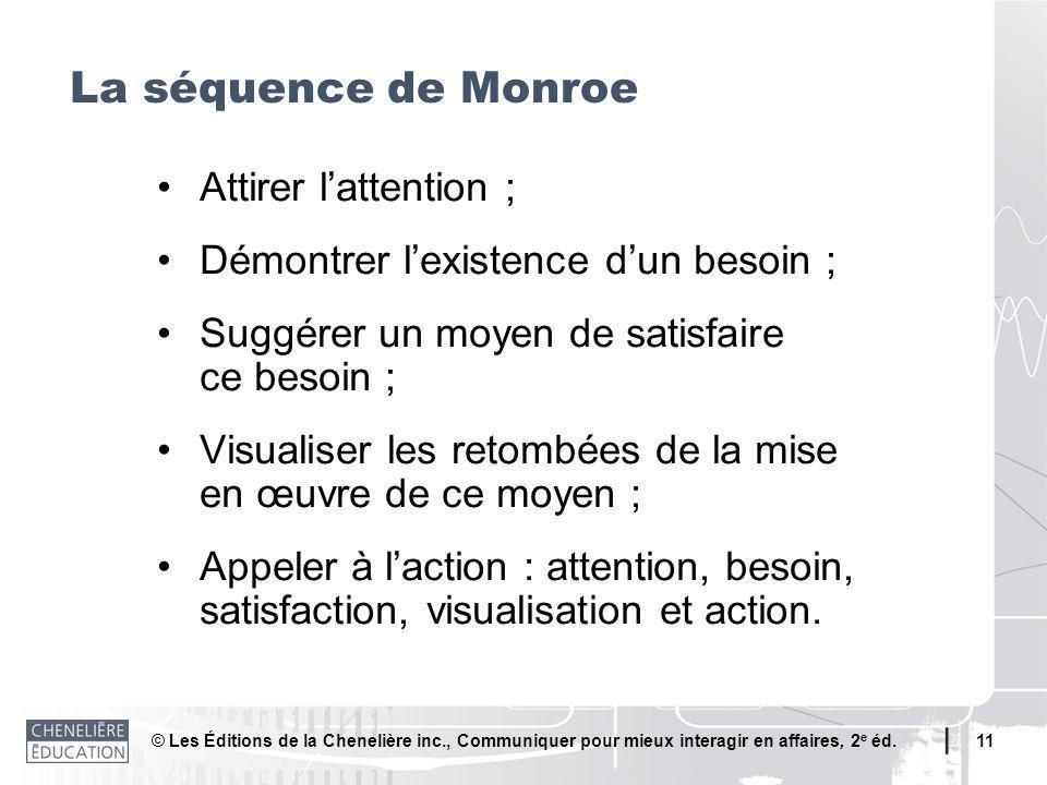 La séquence de Monroe • Attirer l'attention ;