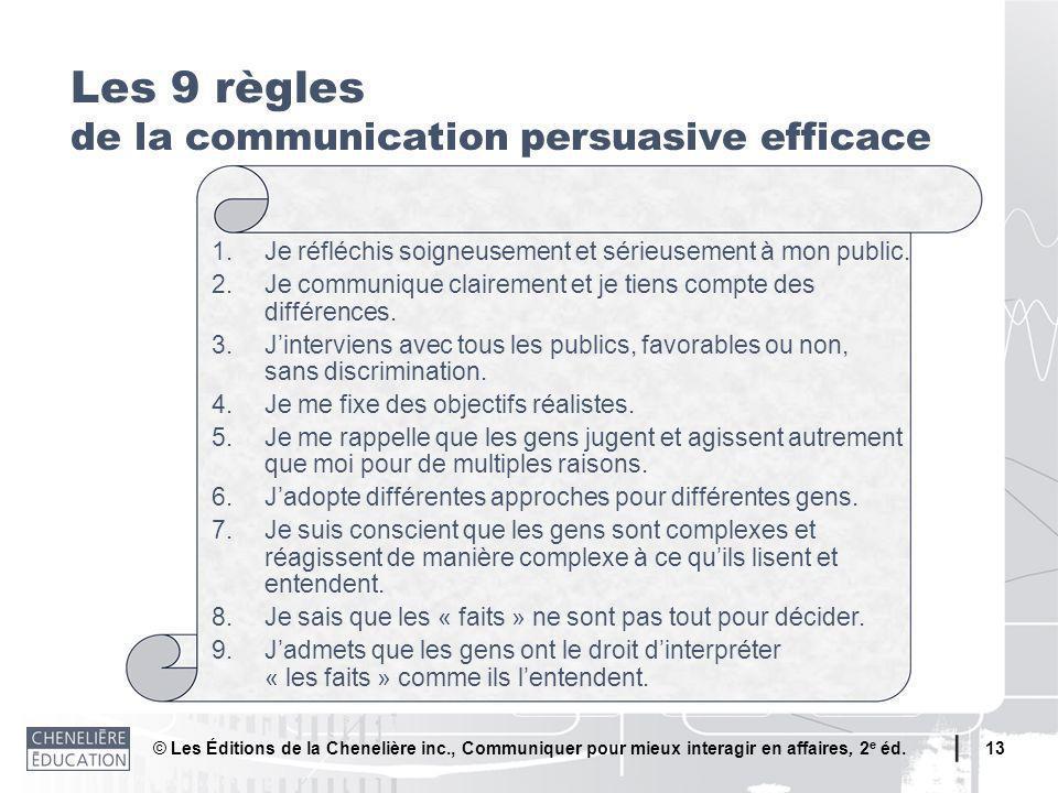 Les 9 règles de la communication persuasive efficace