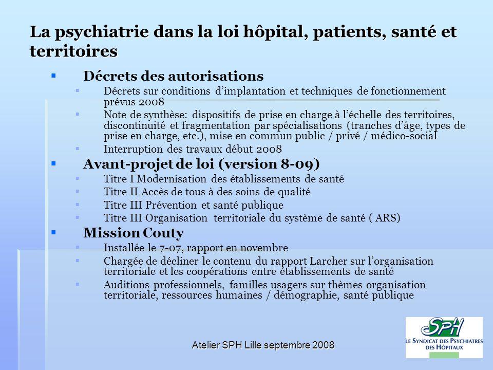 La psychiatrie dans la loi hôpital, patients, santé et territoires