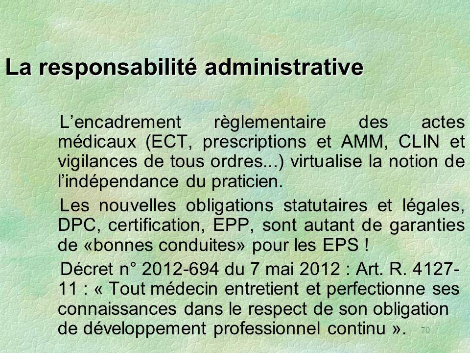 La responsabilité administrative