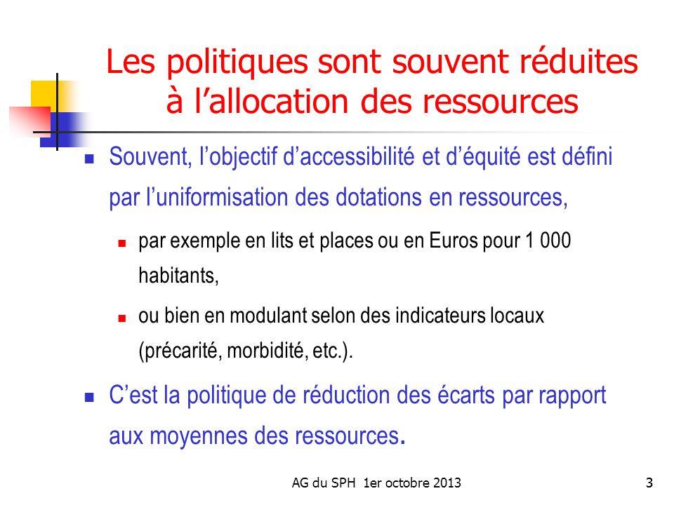 Les politiques sont souvent réduites à l'allocation des ressources