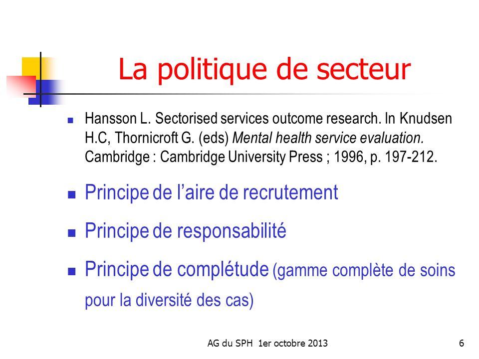 La politique de secteur
