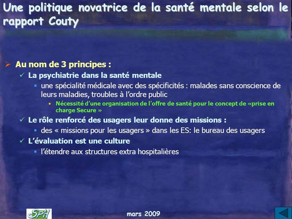 Une politique novatrice de la santé mentale selon le rapport Couty