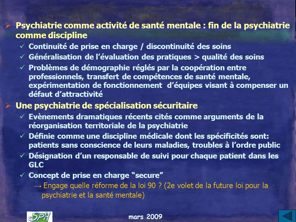 Une psychiatrie de spécialisation sécuritaire
