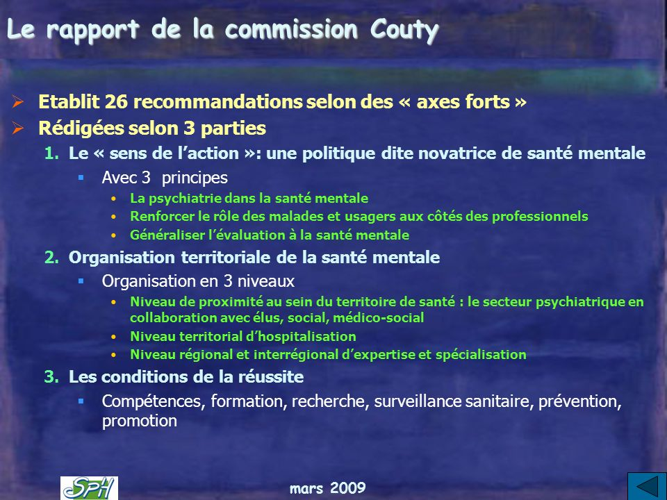 Le rapport de la commission Couty