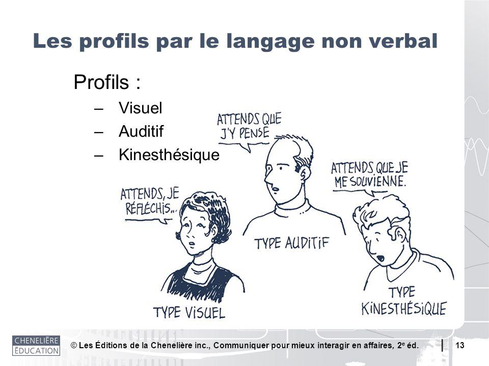Les profils par le langage non verbal