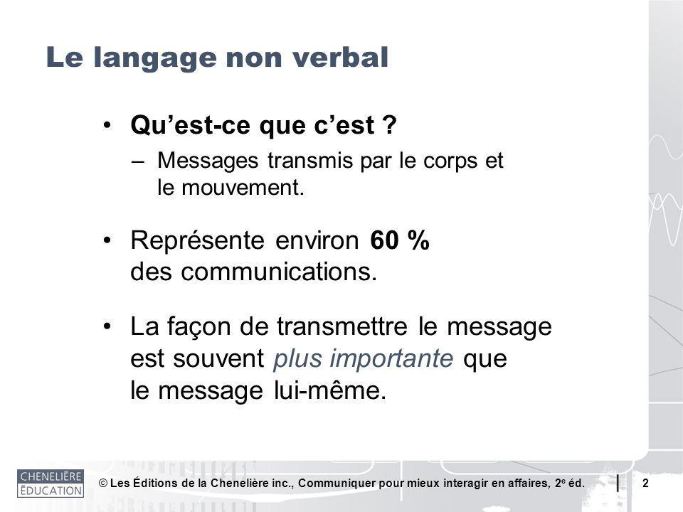 Le langage non verbal • Qu'est-ce que c'est