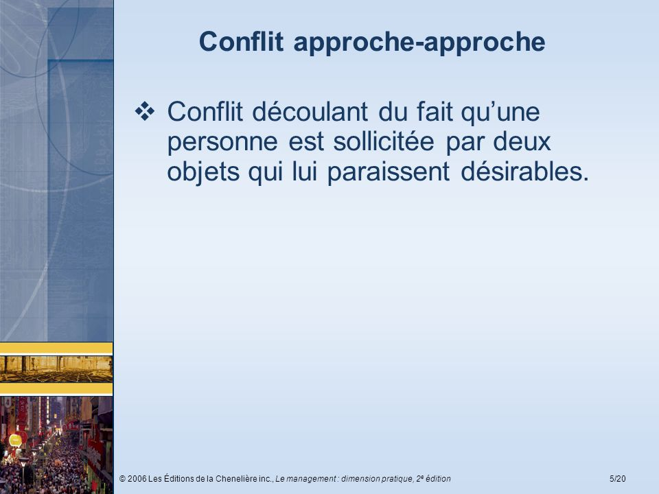 Conflit approche-approche