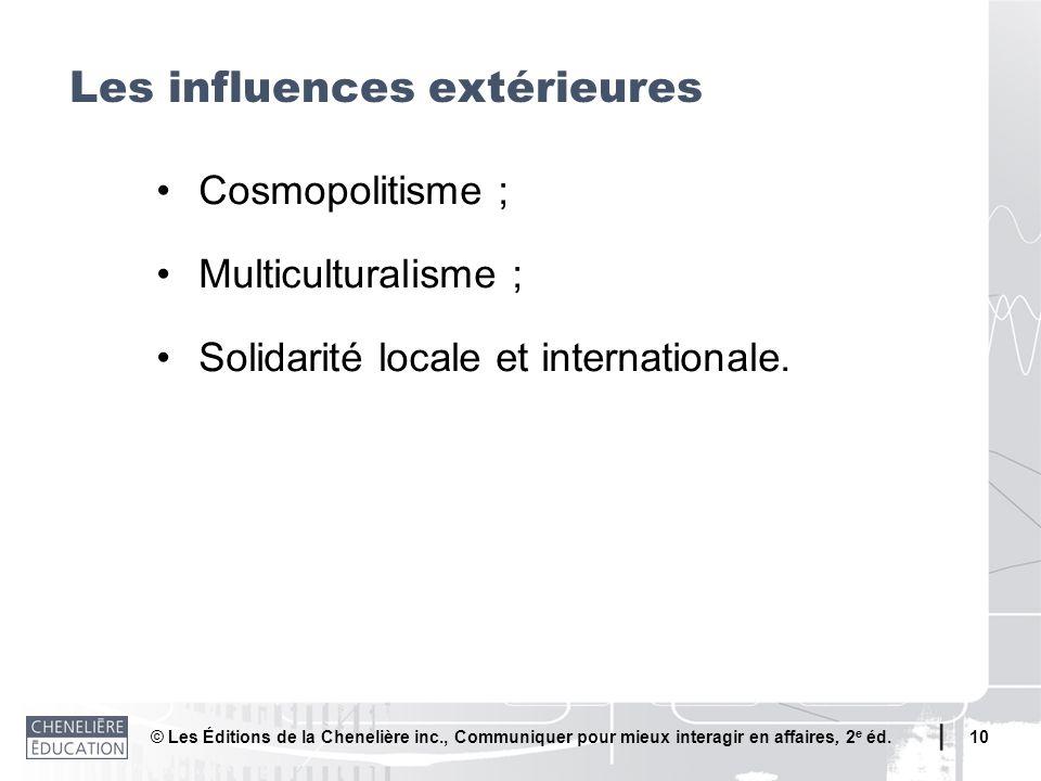 Les influences extérieures