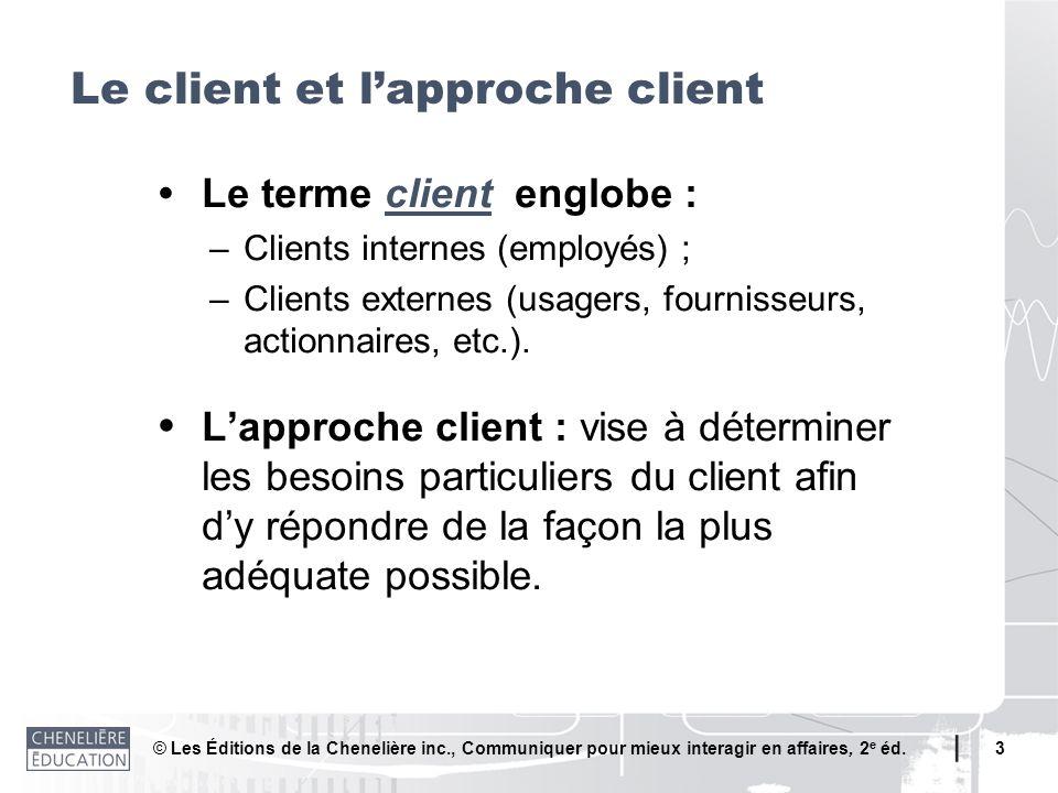 Le client et l'approche client
