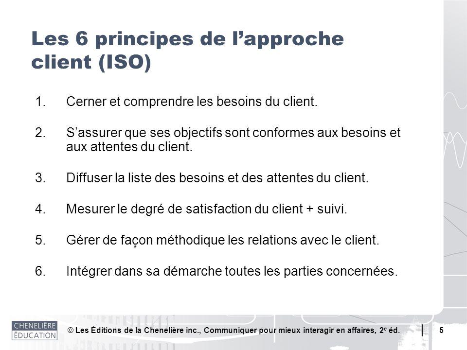 Les 6 principes de l'approche client (ISO)