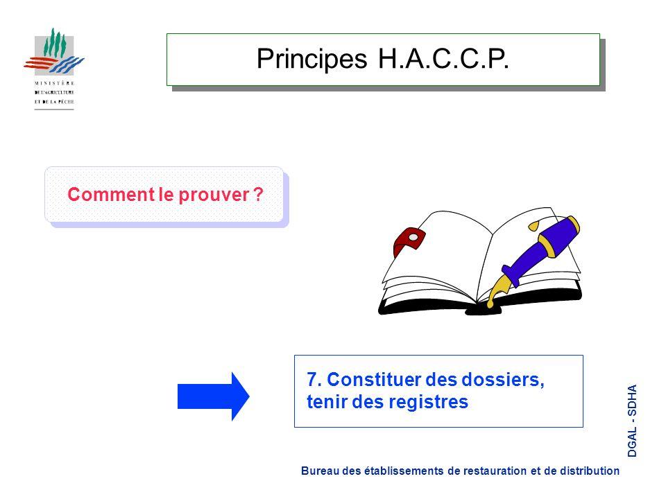 Principes H.A.C.C.P. Comment le prouver