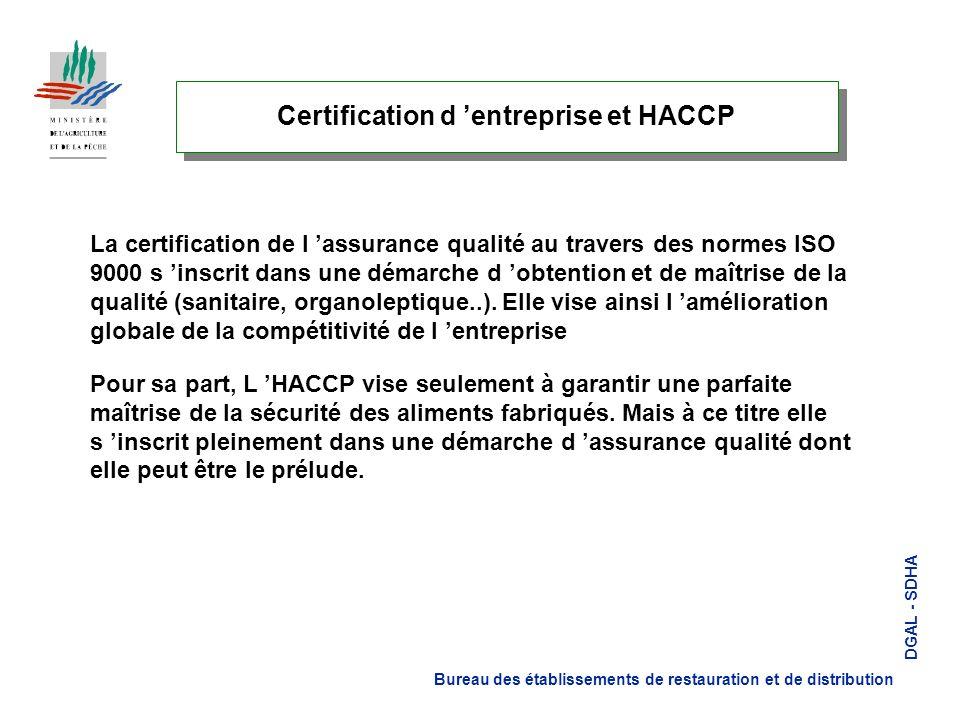 Certification d 'entreprise et HACCP