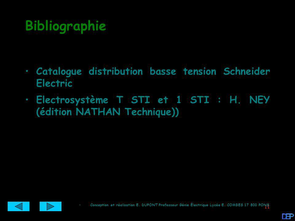Bibliographie Catalogue distribution basse tension Schneider Electric