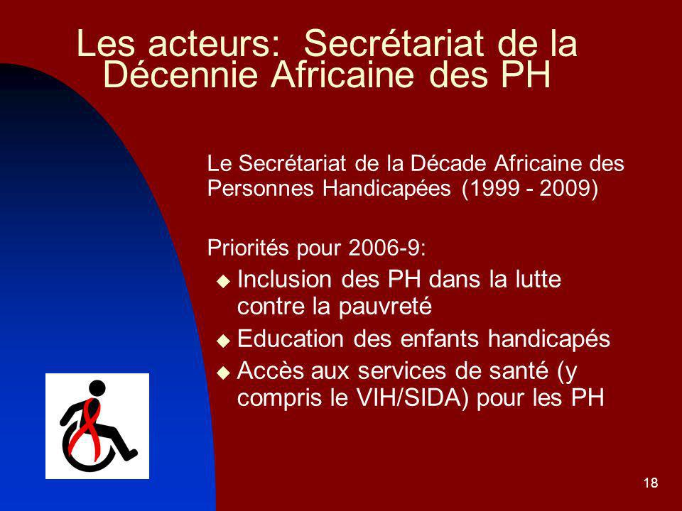 Les acteurs: Secrétariat de la Décennie Africaine des PH