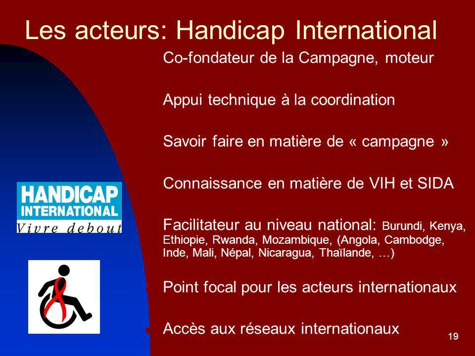 Les acteurs: Handicap International