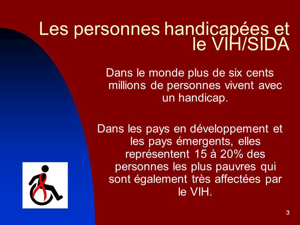 Les personnes handicapées et le VIH/SIDA