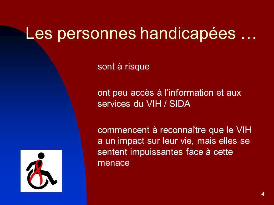 Les personnes handicapées …