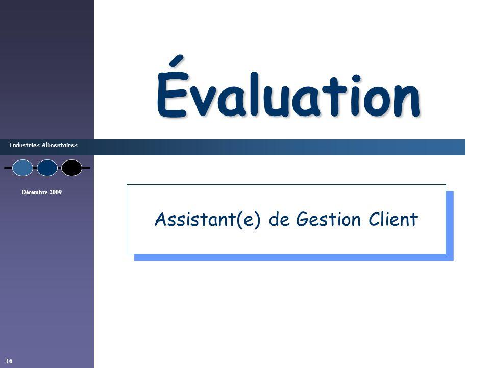 Assistant(e) de Gestion Client