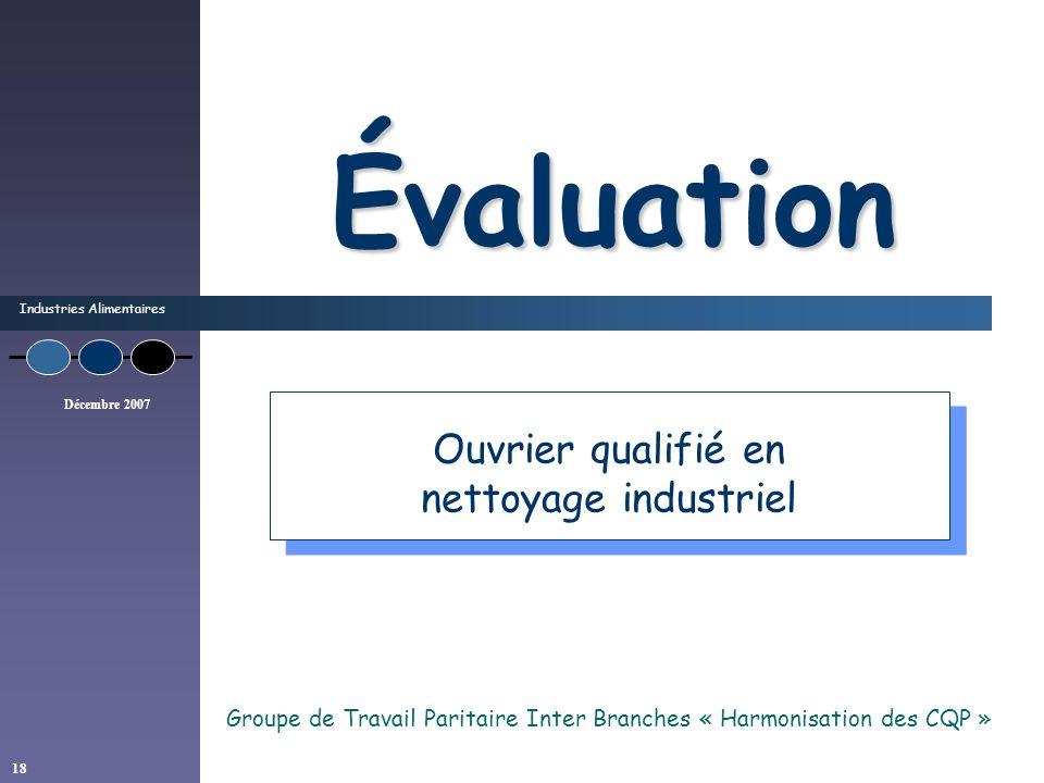 Groupe de Travail Paritaire Inter Branches « Harmonisation des CQP »