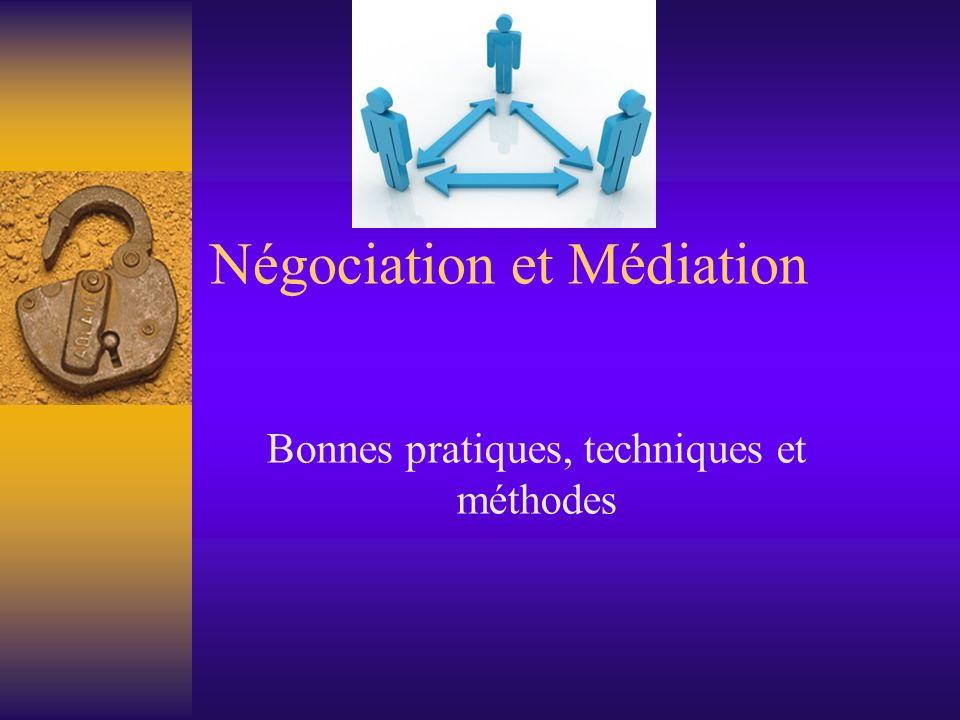 Négociation et Médiation