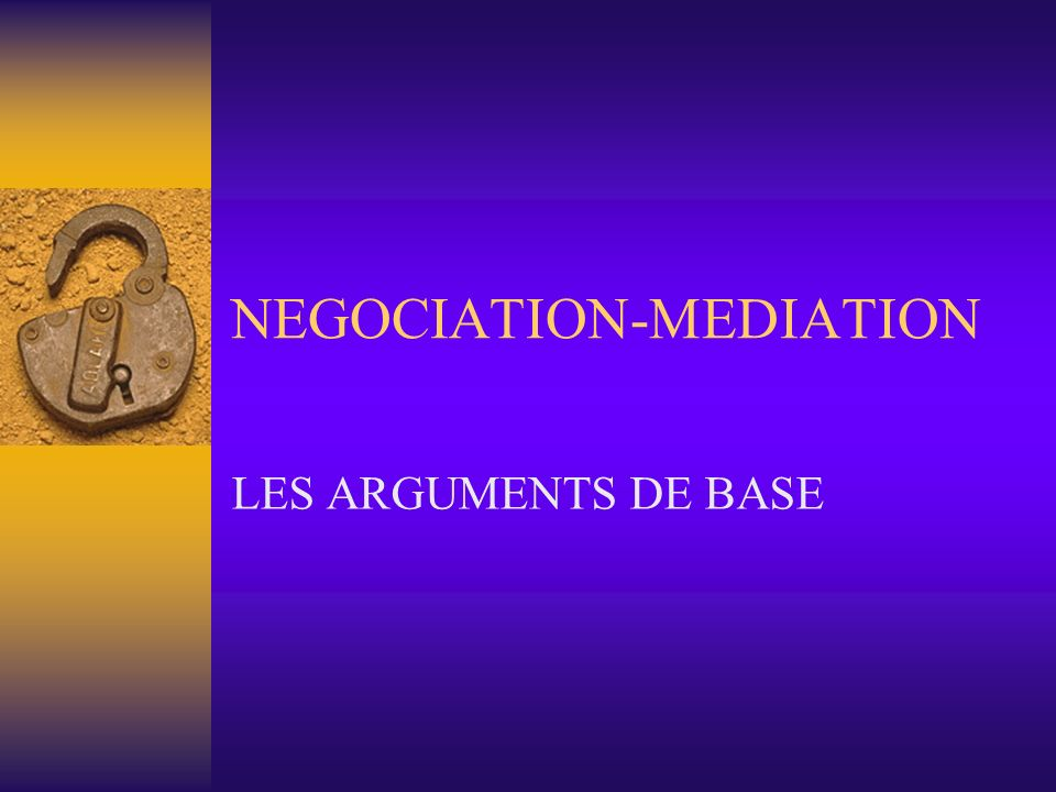 NEGOCIATION-MEDIATION