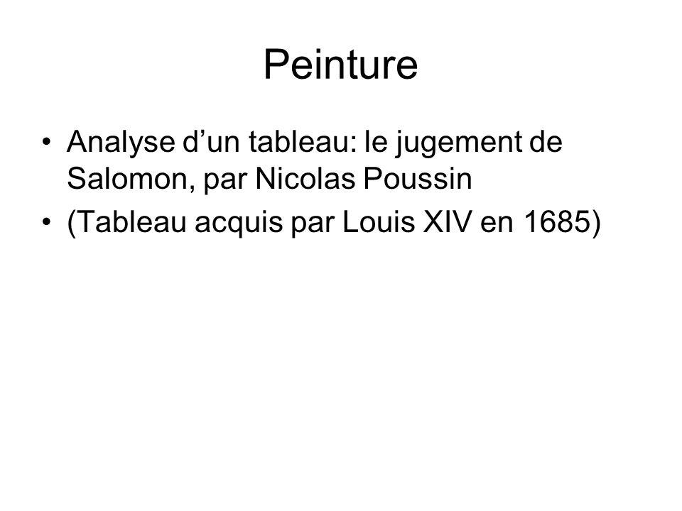 Peinture Analyse d'un tableau: le jugement de Salomon, par Nicolas Poussin.