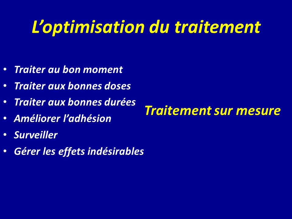 L'optimisation du traitement