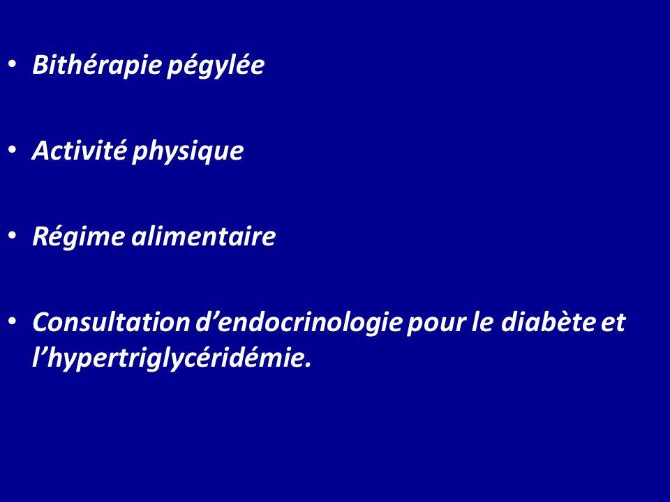 Bithérapie pégyléeActivité physique.Régime alimentaire.