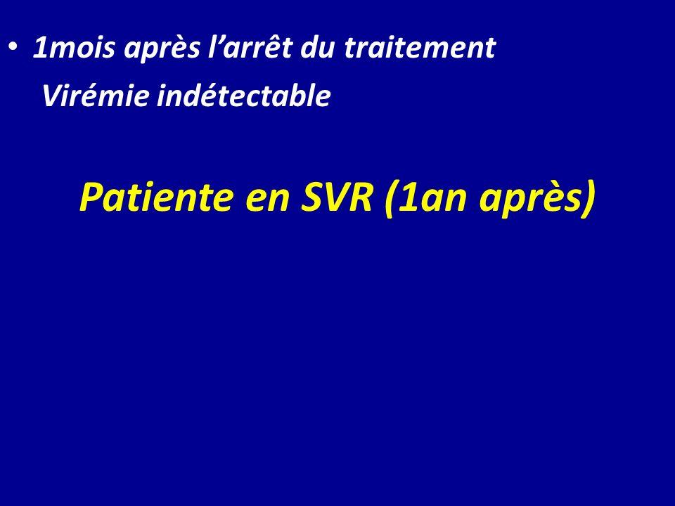 Patiente en SVR (1an après)