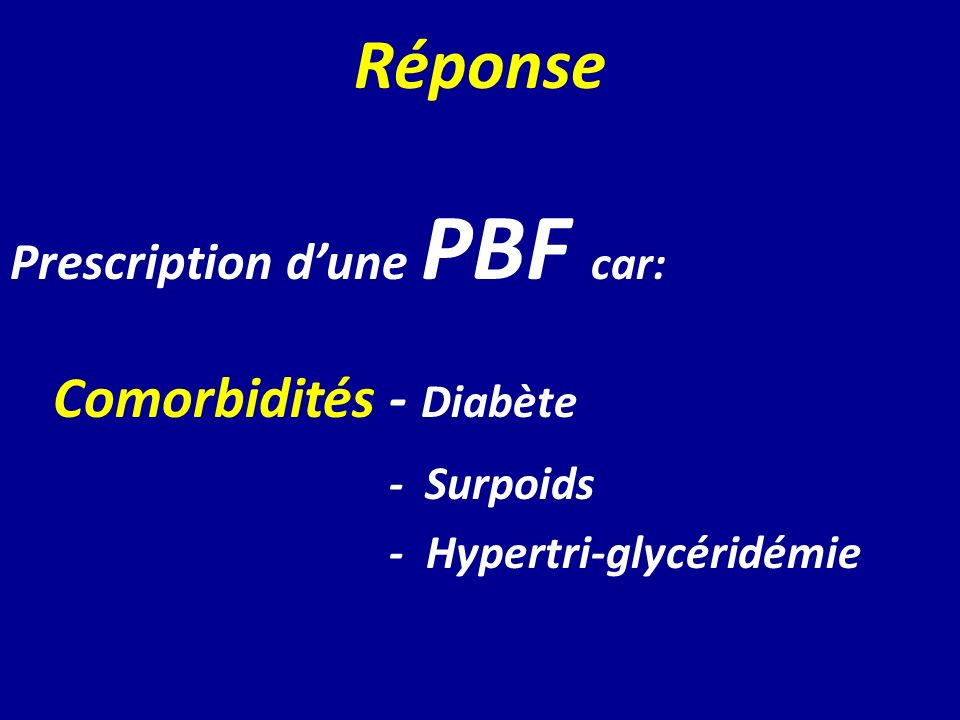 Comorbidités - Diabète
