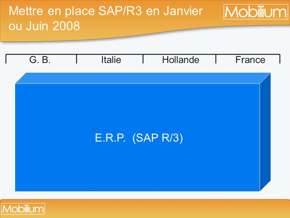 Mettre en place SAP/R3 en Janvier ou Juin 2008
