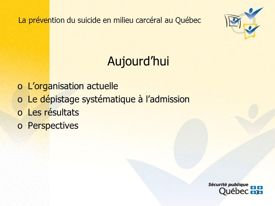 La prévention du suicide en milieu carcéral au Québec