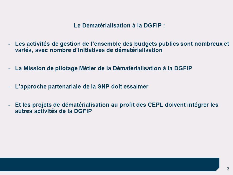Le Dématérialisation à la DGFiP :