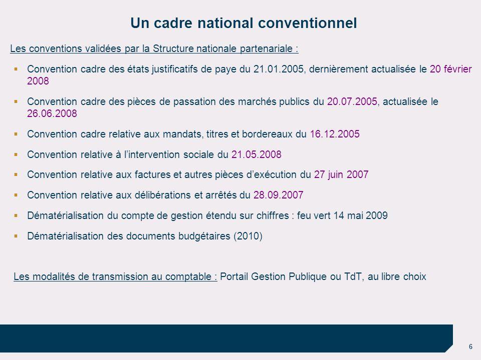 Un cadre national conventionnel