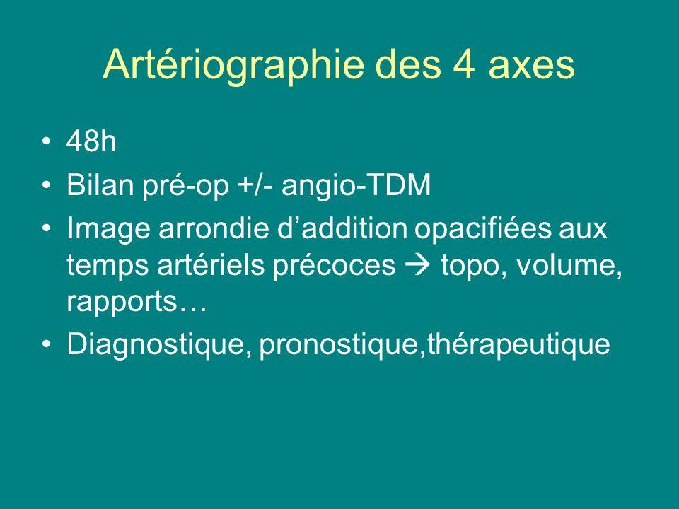 Artériographie des 4 axes