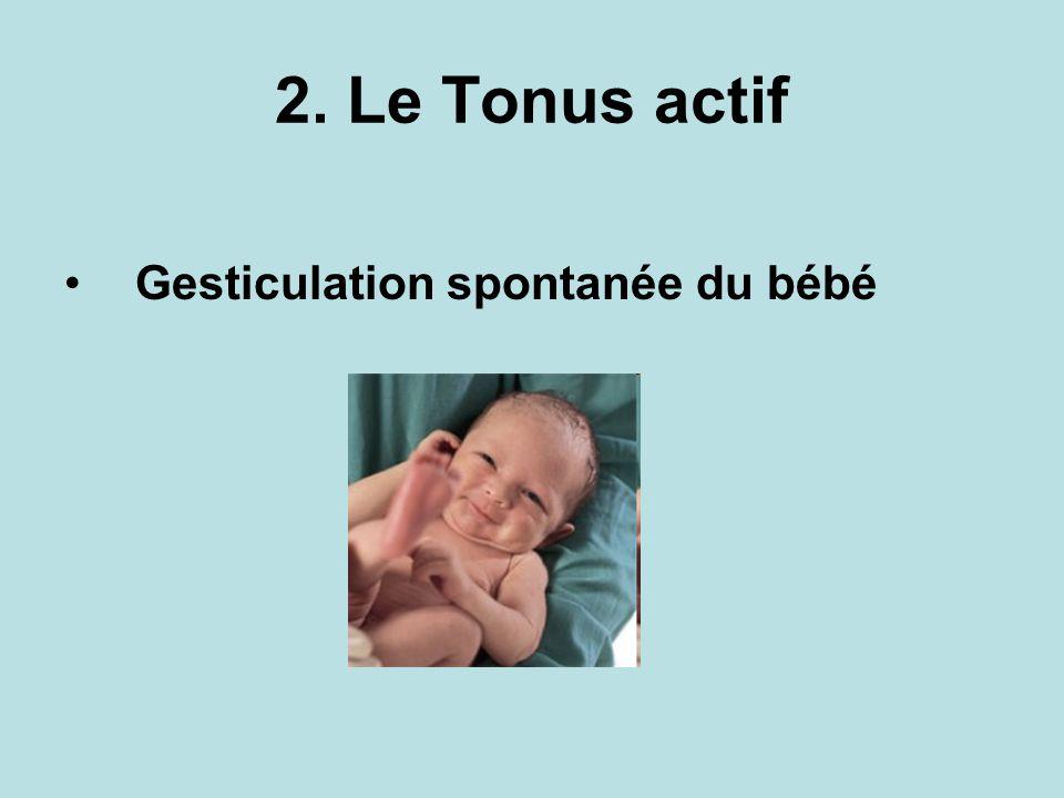 2. Le Tonus actif Gesticulation spontanée du bébé