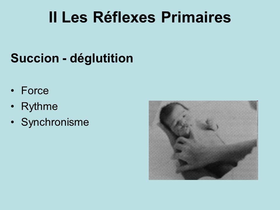 II Les Réflexes Primaires